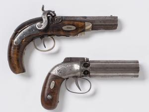 Guns in possession of Joseph and Hyrum Smith at Carthage jail, 27 June 1844