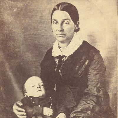 With son David Hyrum. Photograph, unknown photographer, 1845. (Courtesy Community of Christ Library-Archives, Independence, MO)