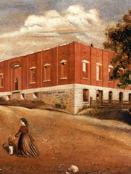 Oil on canvas, David Hyrum Smith, circa 1865. (Courtesy the Lynn and Lorene Smith family and Community of Christ.)