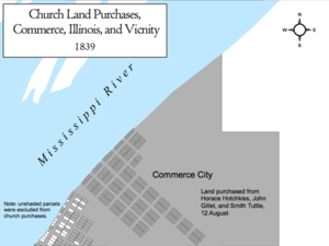 Church Land Purchases, Commerce, Illinois, and Vicinity, 1839