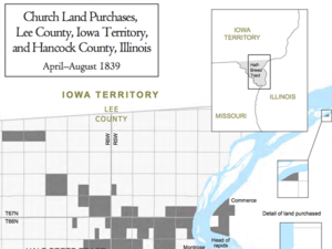 Church Land Purchases, Lee County, Iowa Territory, and Hancock County, Illinois, April–August 1839