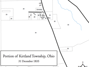 Portion of Kirtland Township, Ohio, 31 December 1835